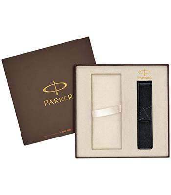 Коробка Parker подарочная 1910453 (с местом для ручки и чёрным чехлом для ручки в комплекте)