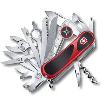Нож Victorinox 2.5393.SC EvoGrip S54 (85мм 31 функция, красный с чёрными вставками, spring lock)