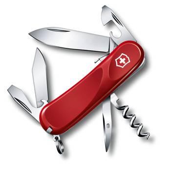 Нож Victorinox 2.3603.SE Evolution S101 (85мм, 12 функций, с фиксатором лезвия, красный)
