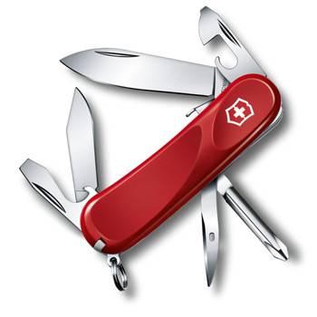 Нож Victorinox 2.4603.SE Evolution S111 (85мм, 12 функций, с фиксатором лезвия, красный)