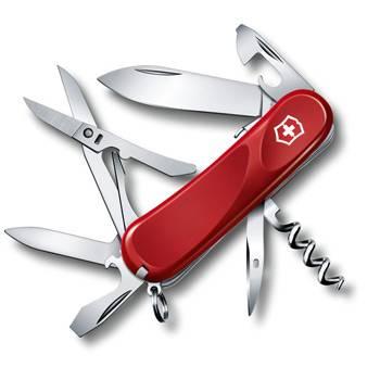 Нож Victorinox 2.3903.SE Evolution S14 (85мм, 14 функций, с фиксатором лезвия, красный)