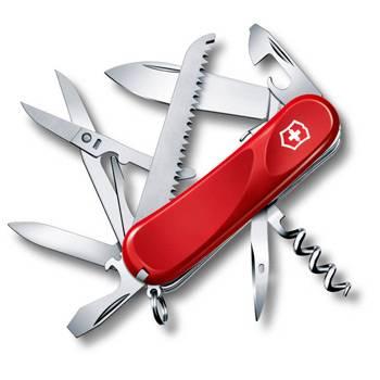 Нож Victorinox 2.3913.SE Evolution S17 (85мм, 15 функций, с фиксатором лезвия, красный)