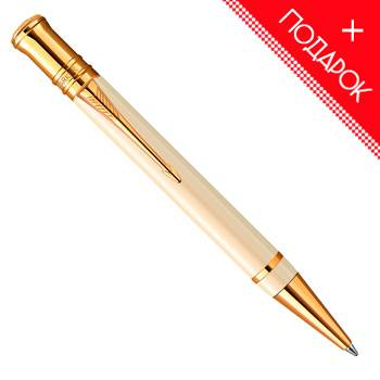 Шариковая ручка K74 Parker Duofold Historical Colors Ivory GT (1907140)
