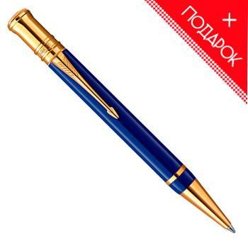 яШариковая ручка K74 Parker Duofold Historical Colors Lapis Lazuli GT (1907186)