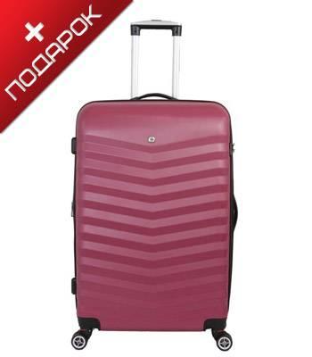 Чемодан Wenger SW32300167 FRIBOURG, красный, АБС-пластик, 38x28x60 см, 64 л