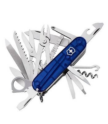 Нож Victorinox 1.6795.T2 SwissСhamp, 91мм, полупрозрачный синий