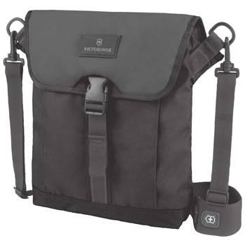 Сумка Victorinox 32389201 Altmont™ 3.0 Flapover Bag, чёрная, нейлон Versatek™, 27x06x32 см, 5 л