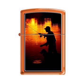 Зажигалка Zippo 231 Fishing Orange Matte
