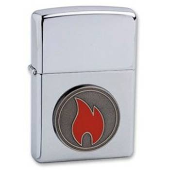 "яЗажигалка""ZIPPO"" 24055 FLAME HIGH POLISH CHROME"