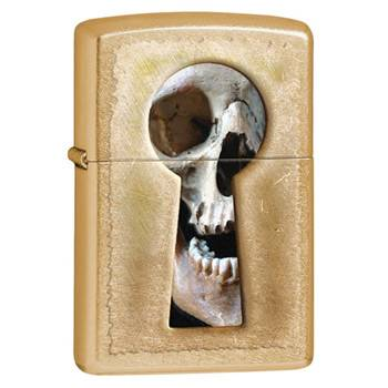 яЗажигалка Zippo 28540 Keyhole Skull Gold Dust
