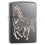 Зажигалка Zippo 28645 Running Horse Black Ice