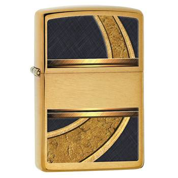 Зажигалка Zippo 28673 Gold & Black Brushed Brass