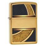 Зажигалка Zippo 28673 Gold & Black Brushed Brass