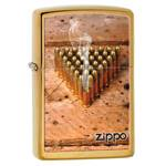 яЗажигалка Zippo 28674 Bullets Brushed Brass