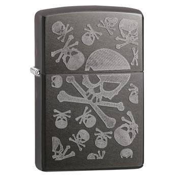 Зажигалка Zippo 28685 Skulls Gray Dusk