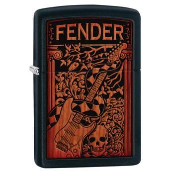 яЗажигалка Zippo 28733 Fender Black Matte