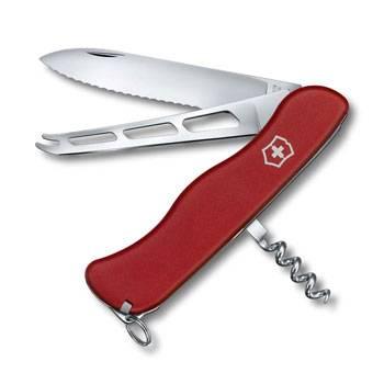 Нож Victorinox 0.8833.W Cheese Knife солдатский с фиксатором, 111мм, красный