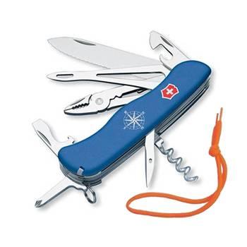 Нож Victorinox 0.9093.2WS Skipper солдатский с фиксатором, 111мм, синий
