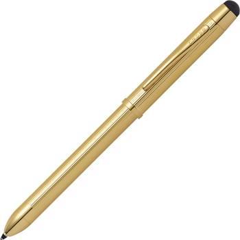 Многофункциональная ручка Cross Tech3+ AT0090-12 (отделка позолота 23К ) ручка, стилус, карандаш
