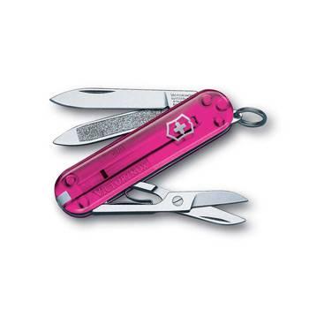 Нож-брелок Victorinox 0.6203.T5 Classic, 58мм, полупрозрачный розовый