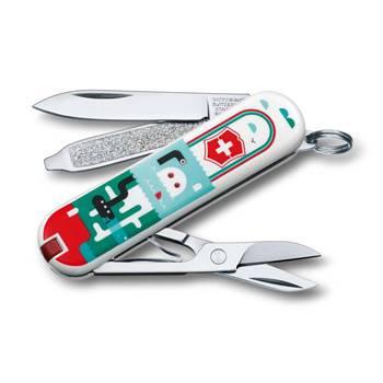 "Нож-брелок Victorinox 0.6223.L1502 Classiс ""Sea World"" 58мм"