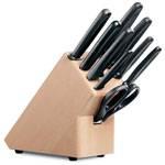 Набор столовых приборов Victorinox 5.1193.9 (9 предметов, рукоятка Fibrox, в подставке из бука)