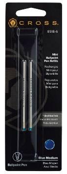 Стержень шариковый Cross для ручки Tech3+ Tech4 8518-6 синий средний (2шт)