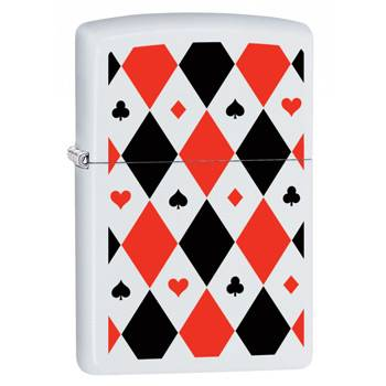 Зажигалка Zippo 29191 Poker Patterns White Matte