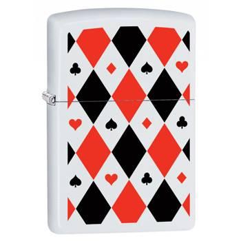 Зажигалка Zippo 29191 Poker Patterns White Matte
