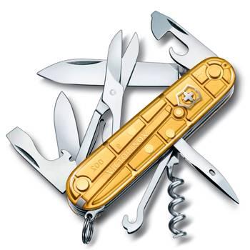 Нож Victorinox 1.3703.T88 Climber Gold офицерский, 91мм, прозрачный золотой