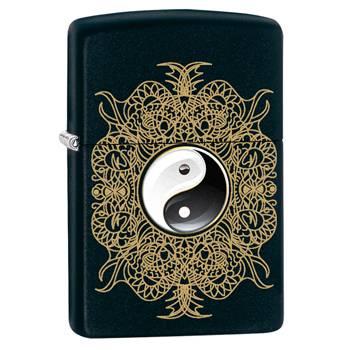 Зажигалка Zippo 28829 Ying Yang Black Matte