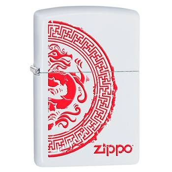 Зажигалка Zippo 28855 Dragon White Matte