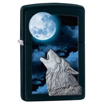 Зажигалка Zippo 28879 Moon Wolf Black Matte