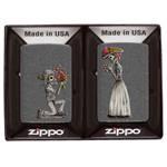 Зажигалка Zippo 28987 Набор из двух зажигалок в коробке, Iron Stone