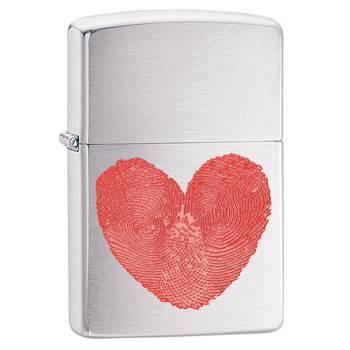 Зажигалка Zippo 29068 Heart Brushed Chrome