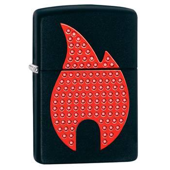яЗажигалка Zippo 29106 Flame Black Matte