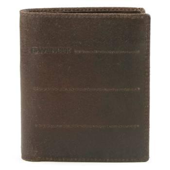 Портмоне Wenger W29-13BR Street Hunter, коричневый, воловья кожа, 9,5х12х1см