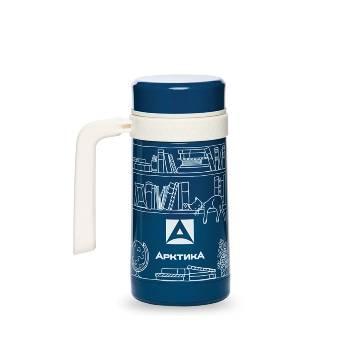 Термос-кружка Арктика 412-500 синяя (с ручкой, + ситечко, 500мл)