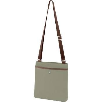 Женская сумка Victorinox 601548 Victoria Affinity, зеленая, нейлон/кожа/микрозамша, 25x4x27 см, 3 л