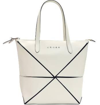 Женская сумка Cross Origami AC751302-7 кожа наппа гладкая+ткань, цвет бежевый, 38 х 32 х 13  см