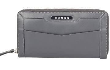 Кошелёк Cross AC508087-7 Кожа наппа, гладкая, серый, 20х10,6х1,8 см