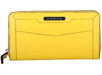 Кошелёк Cross AC508087-8 Кожа наппа, гладкая, желтый, 20х10,6х1,8 см