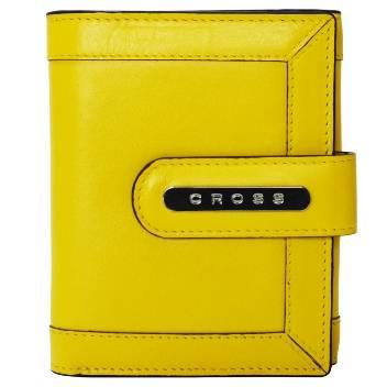 Кошелёк Cross AC508145-8 Кожа наппа, гладкая, желтая, 12х10х1,5 см