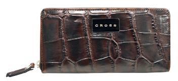 Кошелёк Cross Coco Nicole AC538227-2 Кожа наппа, тиснёная, коричневый 19х10х1,8 см