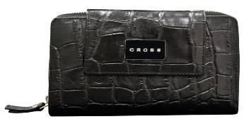 Кошелёк Cross Coco Nicole AC538228-1 Кожа наппа, тиснёная, чёрный 20х10х3,3 см