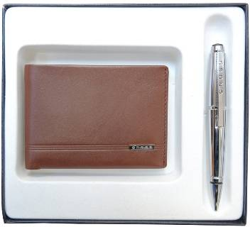 Набор Cross AC018068-3NAB портмоне  и ручка, коричневый