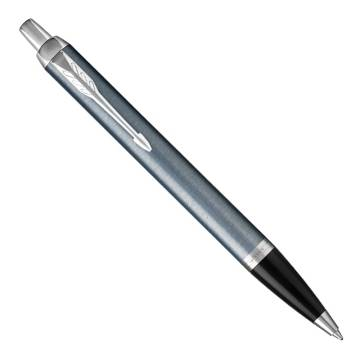 Parker IM Metal 2017 K321 Light Blue Grey CT шариковая ручка 1931669