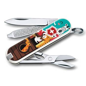 "Нож-брелок Victorinox 0.6223.L1703 Classic ""The Ark"" 58мм"