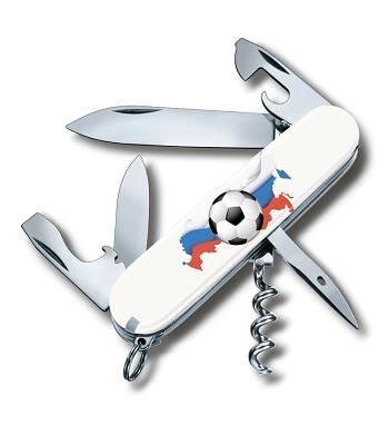 Нож Victorinox 1.3603 SOCCER I Spartan Российский футбол, офицерский, 91мм, белый