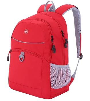 Рюкзак Wenger 6651114408 красный , 33x16,5x46см, 26л
